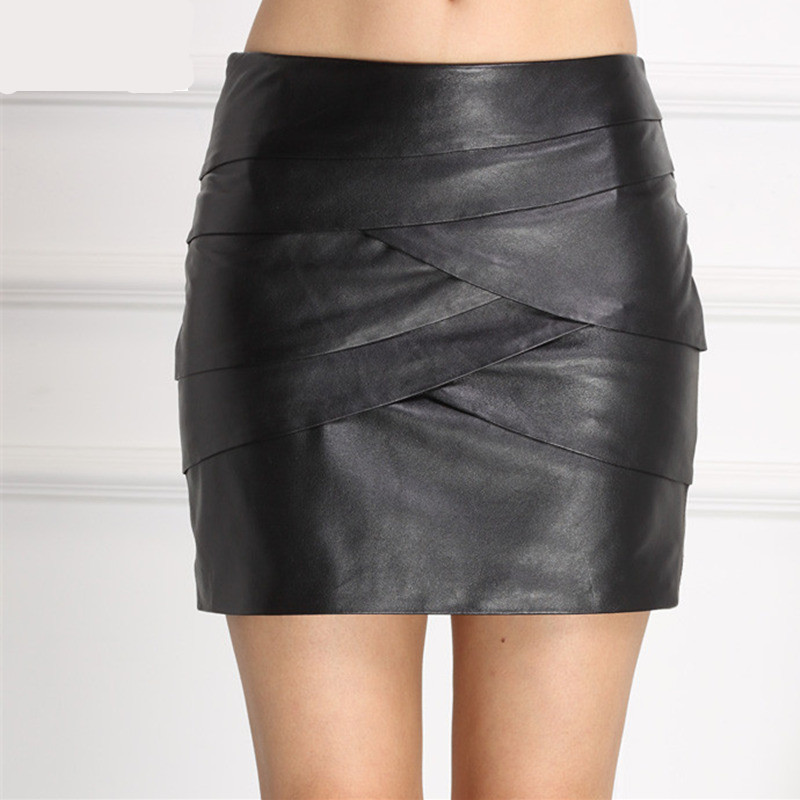 Hot Sale Fashion Women Skirt Chic Sheepskin Genuine -1615