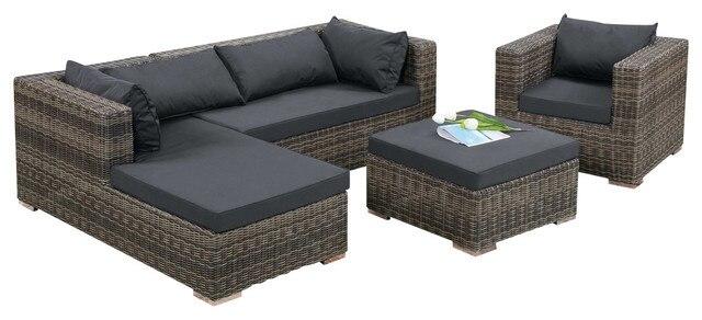 Rattan sofa outdoor  2017 moderne Design Outdoor korb Terrasse Rattan Sofa Set in 2017 ...