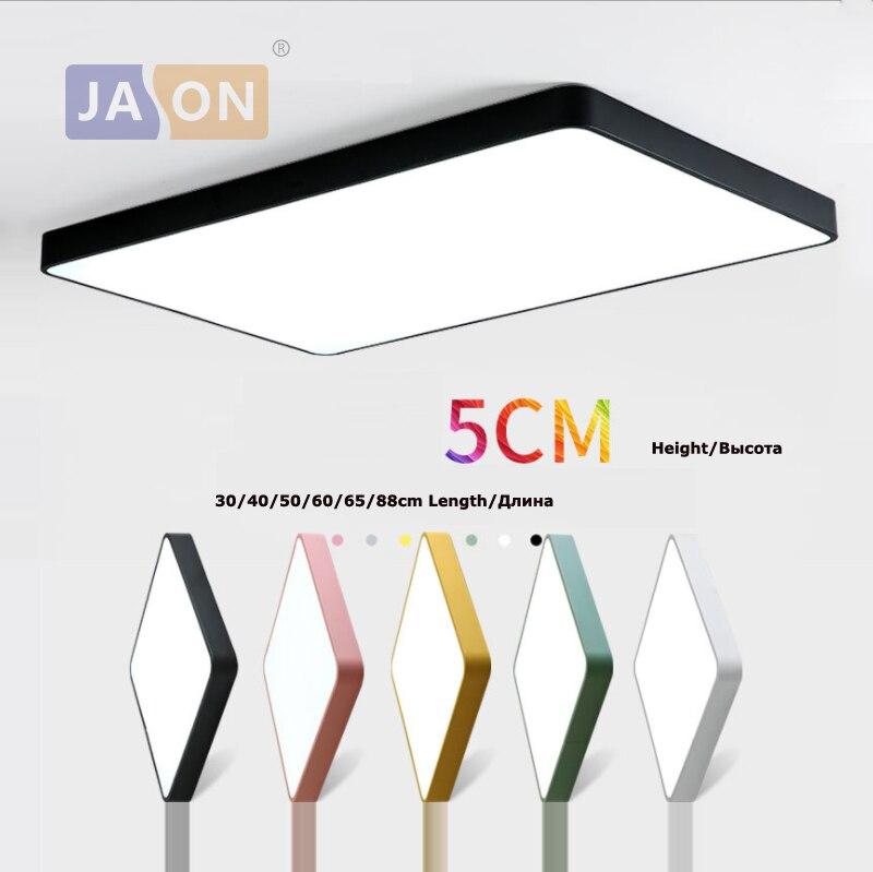 LED Modern Iron Acryl 5cm Thin Square Rectangle Colorized LED Chandelier Chandelier Lighting LED Light LED Lamp For Foyer|Chandeliers| |  - title=