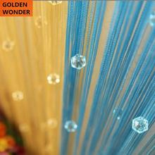 2013 hot sale crystal bead curtain partition deviders entranceway 1*2 meters romantic string thread