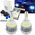 1 pair Car 9007 HB5 8000LM 60W 10000K Blue ETI Car LED Headlight Kit High Low Dual Beam Bulb