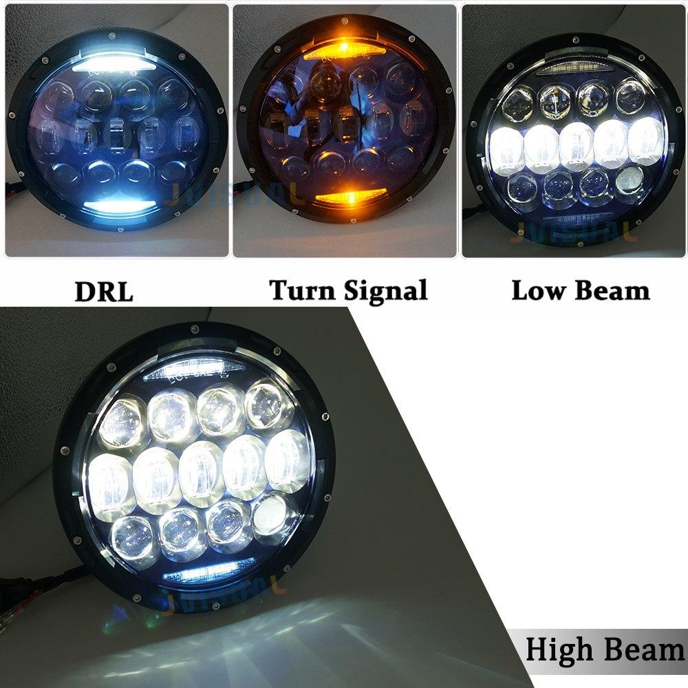 7 LED Headlight Daymaker Kit DRL 12v 130w Led lamp for Off Road for Jeep Wrangler Jk Tj Lada 4x4 urban Niva Hummer цена