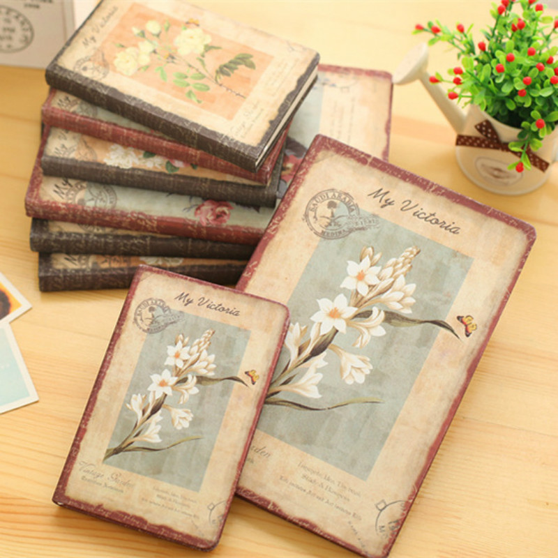 2018 Notebook Diary Notepad Vintage Flower Stationery Gift Traveler Journal Diary Book For Students Fashion School Supplies