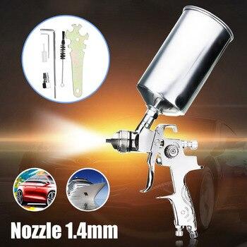цена на Professional Spray Gun For Painting Cars 1.4mm Nozzle 1000ML Gravity HVLP Spray Paint Gun Airbrush Pistols Aerografo