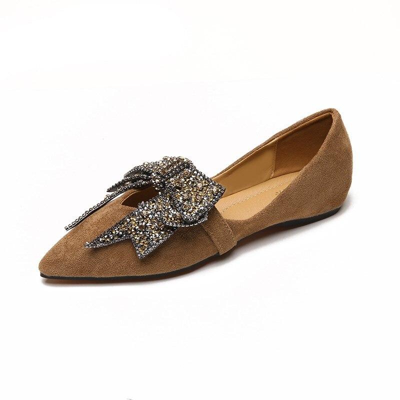 Chaussures Bout Profonde Bouche Femmes Nouvelles 2018 Noir Mis Saisons Simples Arc Plat kaki Doux Peu XAxFgq