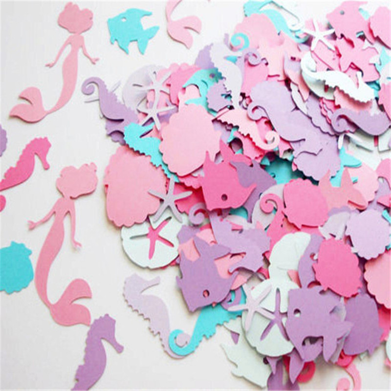 Little Mermaid Confetti Marine Theme Party Decoration Wedding Happy Birthday