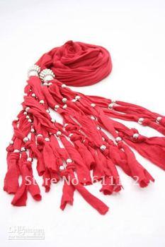 Scarf jewelry Women's pendant scarves fashion Elegant Fringed design scarves 12color 12pcs @#