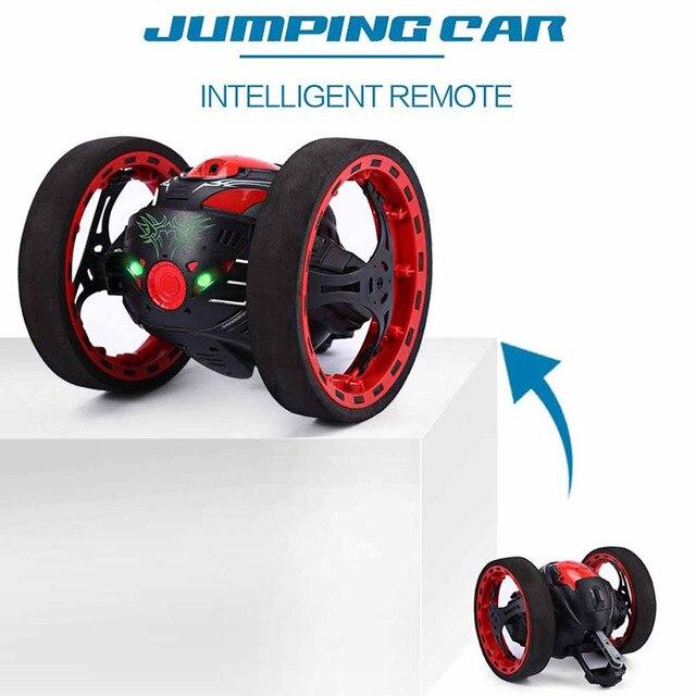 Salto saltando Dragão 2.4G RC Carro com Luzes LED Noite Carro Crianças Brinquedos Presentes de Aniversário M09