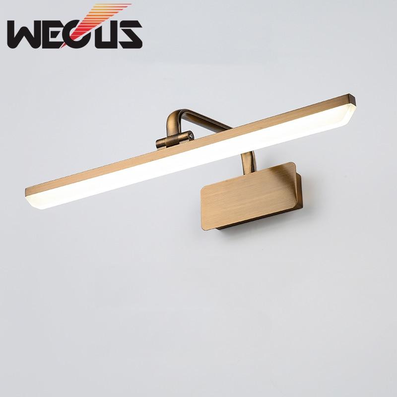 Europe led mirror light bathroom retro makeup wall lamp bedroom lampara pared wandleuchte 420mm
