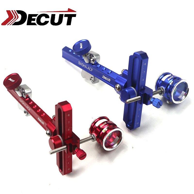 DECUT 1 Set portée vue Original 4x/6x/8x puissance lentille arc vue Stand tir à l'arc composé arc en aluminium accessoire de tir