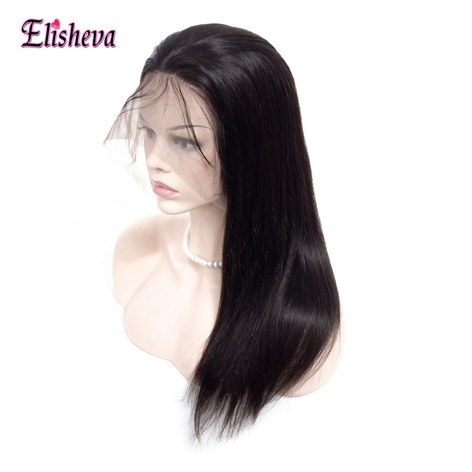 Elisheva Peruvian Straight Hair 360 Lace Frontal Wig with Baby hair 360 lace Wig Non Remy