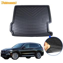 Cawanerl dla BMW X3 F25 tylne samochodu mata do bagażnika tacy wkładka do bagażnika Cargo błoto dywan podkładka do kopania stylizacji 2011 2012 2013 2014 2015 2016 2017 na