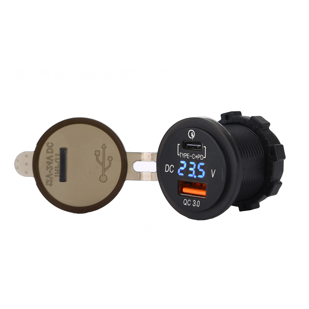 Fast USB PD Type C PD Car Charger with USB Power Delivery 2.0 & Quick Charge 3.0 QC3.0 QC 3.0 for Car Boat Marine Rv Mobile