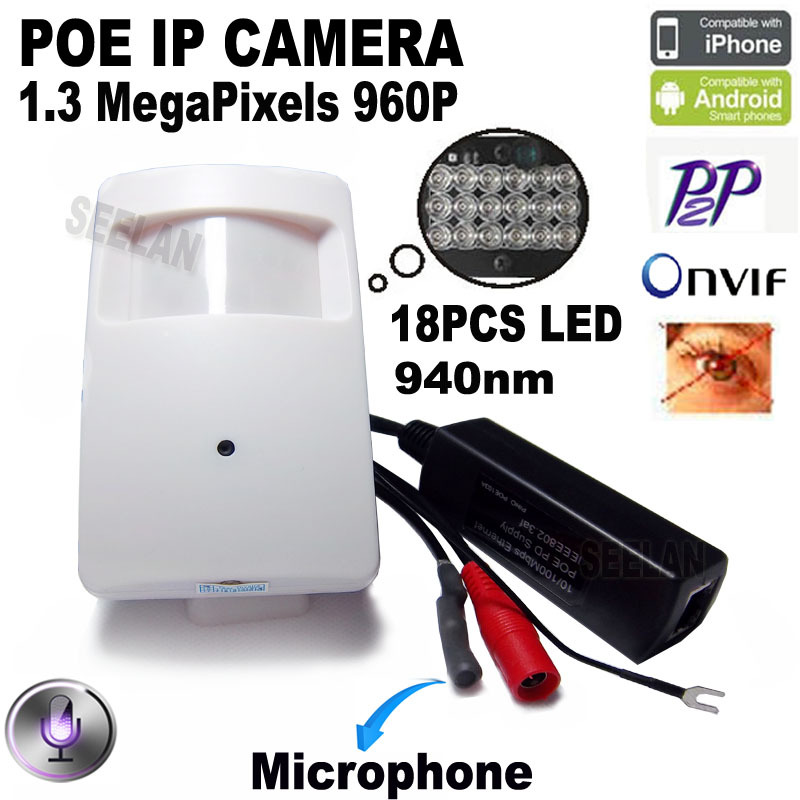 ФОТО 960P poe camera ip mini ip camera night vision camera World Smallest Pir Motion Detector POE IP Camera CCTV Network ip Kamera