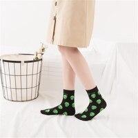 Nes Fashion Harajuku Women Short Socks Cotton Alien Cat Print Cute Socks Ladies Hip Hop Funny Socks Female Socks Mujer Meias [category]