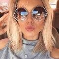 Runbird cat eye sunglasses mujeres nuevo diseñador de moda de lujo del diamante recubrimiento espejos de metal gafas de sol feminino uv400 354r