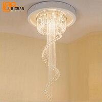 Luxury Design Crystal Chandeliers Modern Led Lamp AC110V 220V Hanging Living Room Ligths Staircase Chandelier