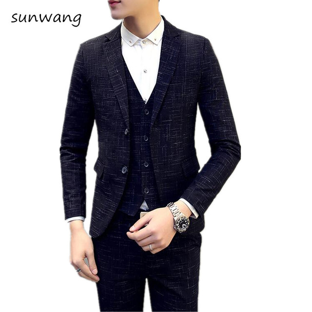 3pcs Men Suits 2017 Brand New Spring Wedding Suits for Men Plus ...