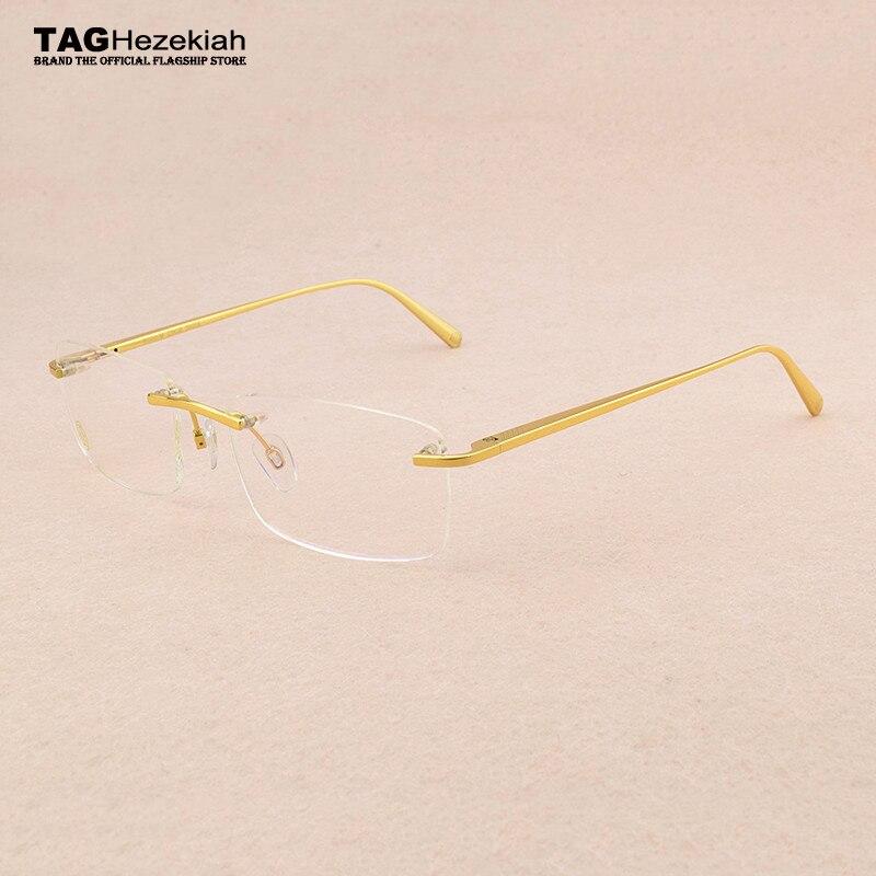 New Luxury Brand Titanium Glasses Frame Men Computer Frameless Glasses Frame Women Eye Glasses Frames For Men Eyeglasses 8201031