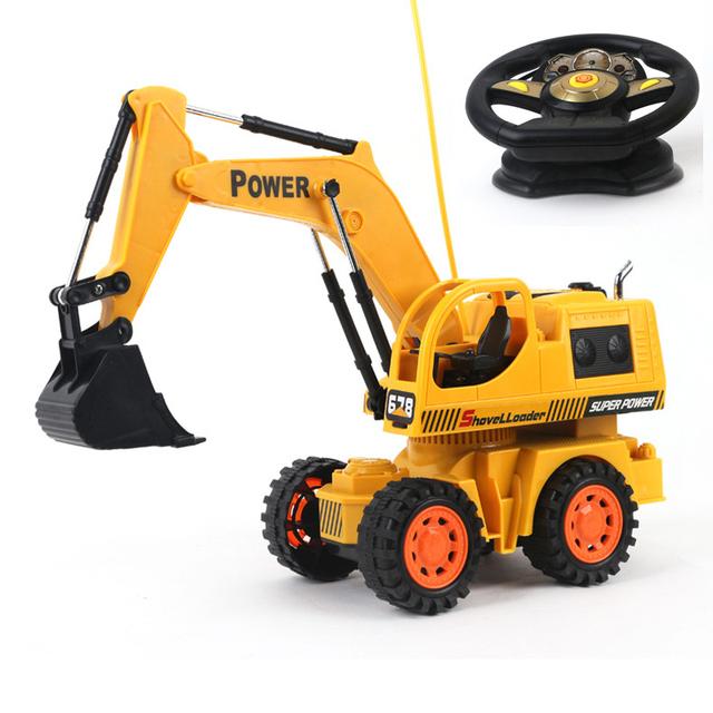 Bebé juguetes 5Ch grande muchacho coche de control Remoto carro de la ingeniería excavadora bulldozer juguetes rc coche eléctrico de juguete regalos kids