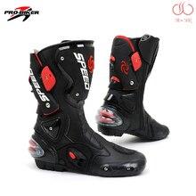 Profissional botas de motocross pro motociclista b1001 velocidade de couro genuíno botas de corrida de moto sapatos de equitação de estrada bpb01