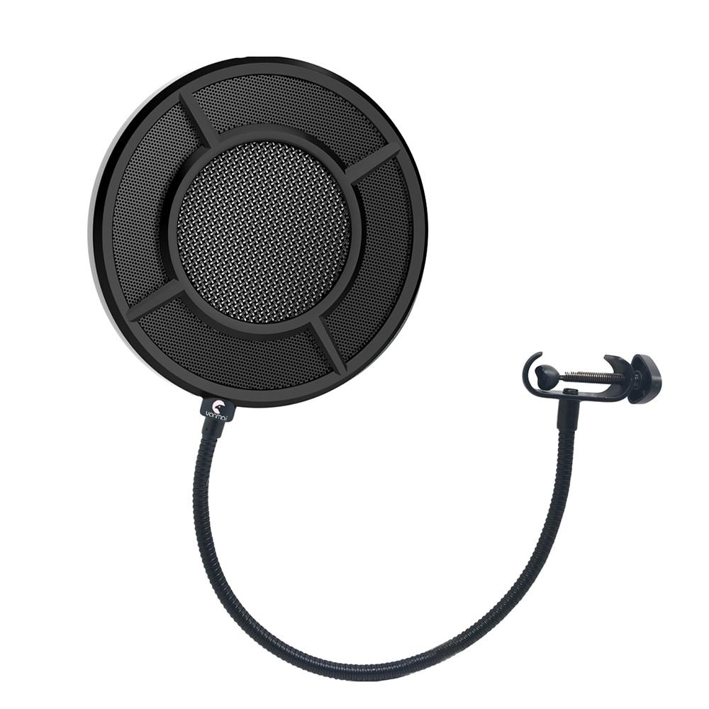 Heimelektronik Zubehör Flexible Mikrofon Pop Filter Singen Windschutz Schild Pod Cast Dual Doppel Schicht Maske Anti Mic Metall Studio Pop Filter Mikrofonstativ