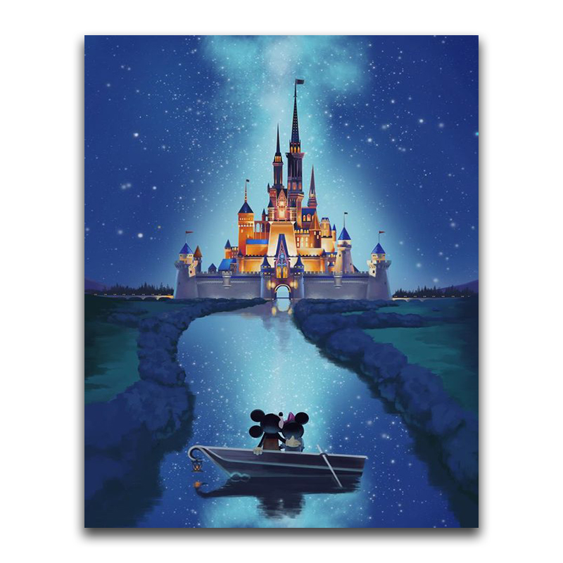 Diamond Painting Castle Cross-Stitch-Sale Mickey Full-Square Cartoon Disney Embroidery
