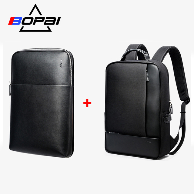 BOPAI ที่ถอดออกได้ 2 ใน 1 กระเป๋าเป้สะพายหลังภายนอก USB Charge แล็ปท็อปกระเป๋าเป้สะพายหลัง Anti Theft กระเป๋าเป้สะพายหลังกันน้ำกระเป๋าเป้สะพายหลังสำหรับชาย