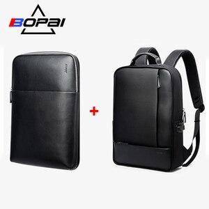 Image 1 - BOPAI Detachable 2 in 1 Backpack USB External Charge Laptop Backpack Shoulders Anti theft Backpack  Waterproof Backpack for Men