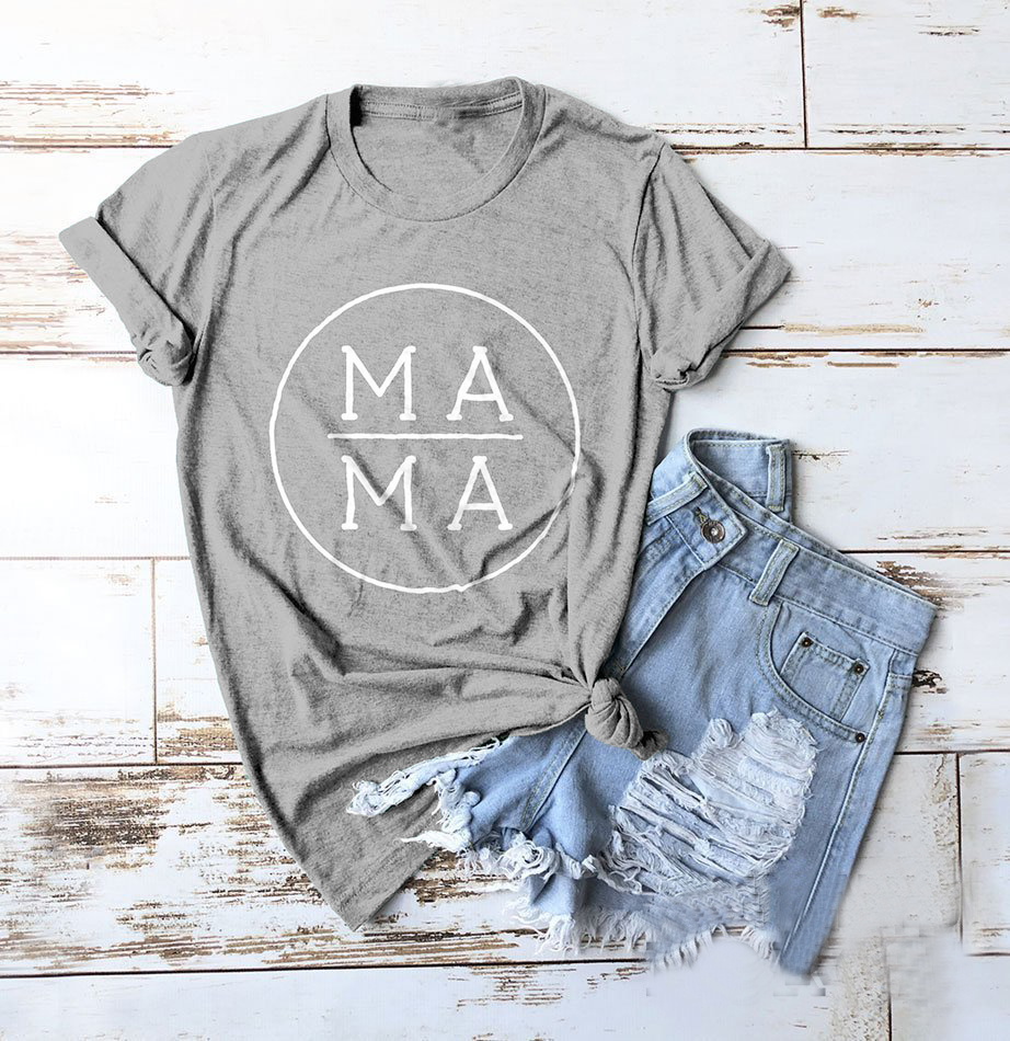 Mama Shirt women fashion mother days gift cute simple street style bless mama cotton casual tumblr grunge aesthetic tee t-shirt