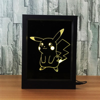 Picacho Jay's turtle figure creative photo frame 3D visual frame nightlights Acrylic custom anime decoration smart home Z95
