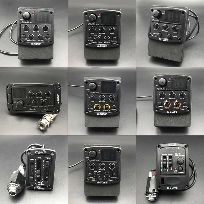 الكروب G لهجة GT-6/5/4/3 3 الفرقة 4 الموجات الصوتية الغيتار المعادل مع موالف الغيتار Preamp و بيزو لاقط لقوم القيثارة