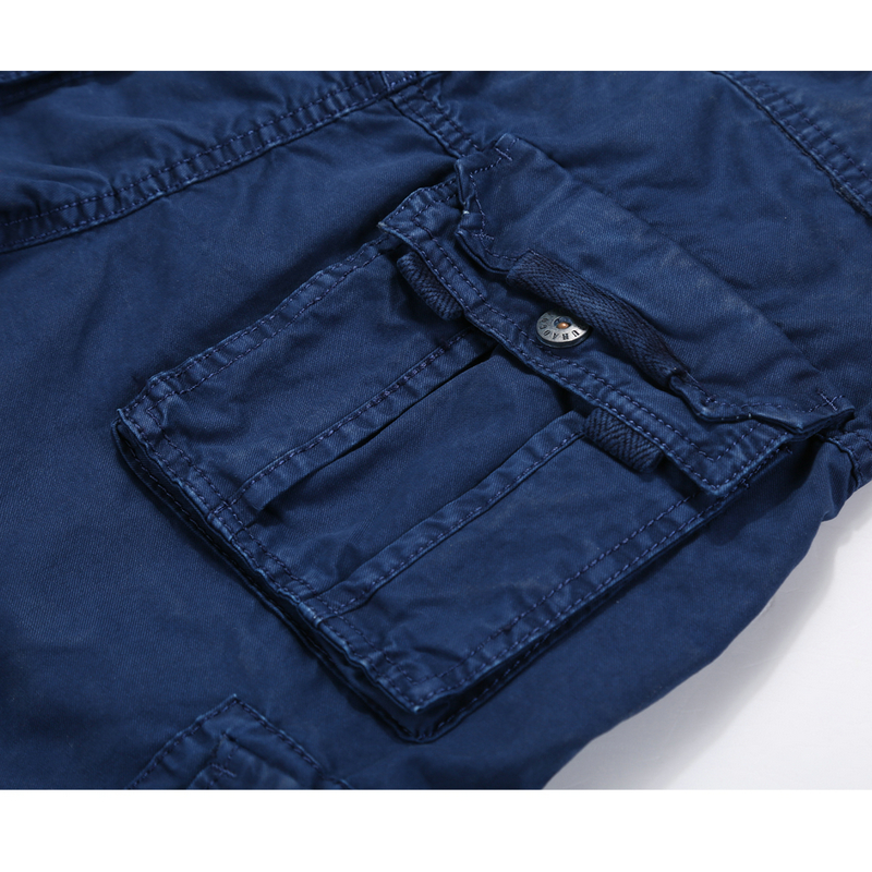 drop penghantaran lelaki kargo seluar pendek 100% kapas musim panas - Pakaian lelaki - Foto 5