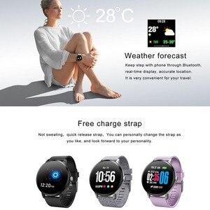 Image 2 - Greentiger V11 ساعة ذكية النشاط جهاز تعقب للياقة البدنية الرياضة Smartwatch IP67 للماء مراقب معدل ضربات القلب الرجال النساء VS DT78 L11 F8