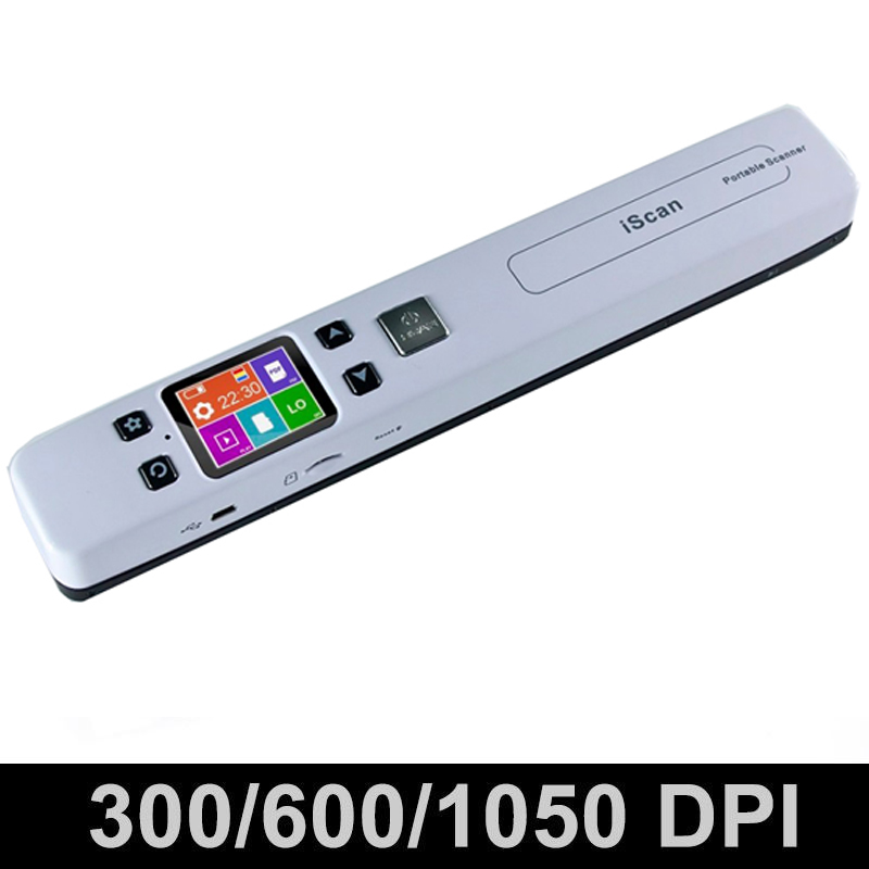 1050DPI High Speed Portable Digital Scanner A4 Size Document Photo JPG PDF Scanner Support 32G TF