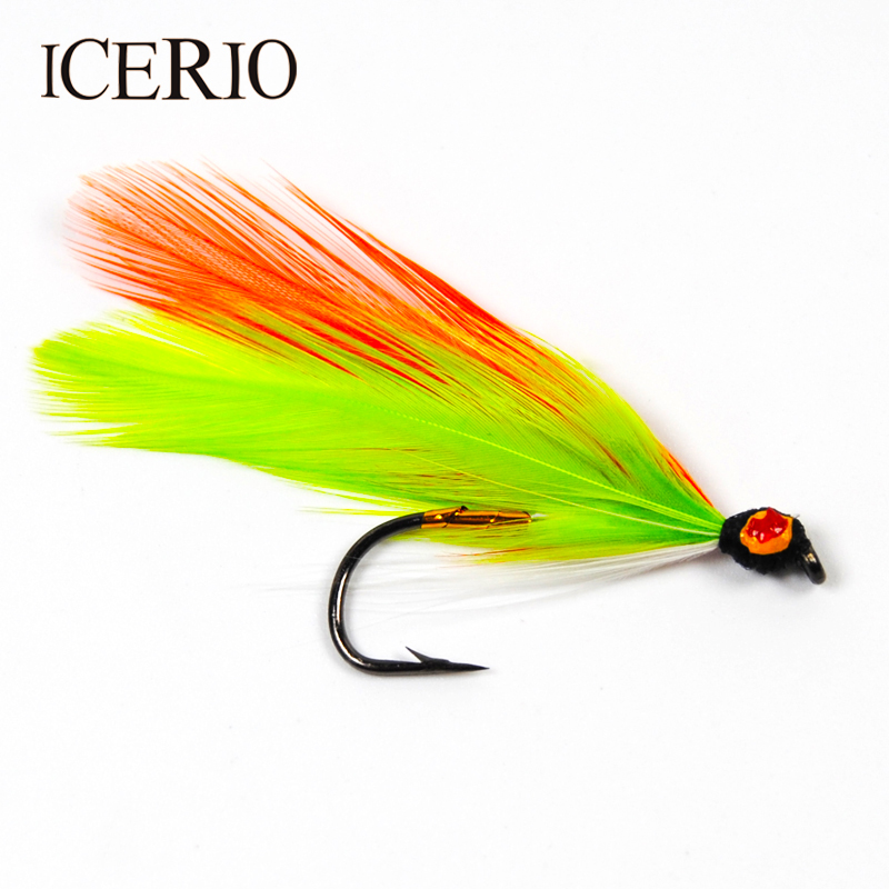ICERIO 6PCS Golden Ghost Streamer Flies Salmon Fly Fishing Lures #6 бас гитару warwick streamer