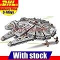 1381 UNIDS Lepin 05007 Bela 10467 Fuerza Despierta Star Wars Han Solo Halcón Milenario Edificio Kit Conjunto de Juguete Para Niños 75105