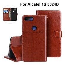 Чехол для телефона для Alcatel 1 S чехол Роскошный флип-кошелек из искусственной кожи деловой чехол s для Alcatel 1 S 5024D 1 S Чехол-книжка