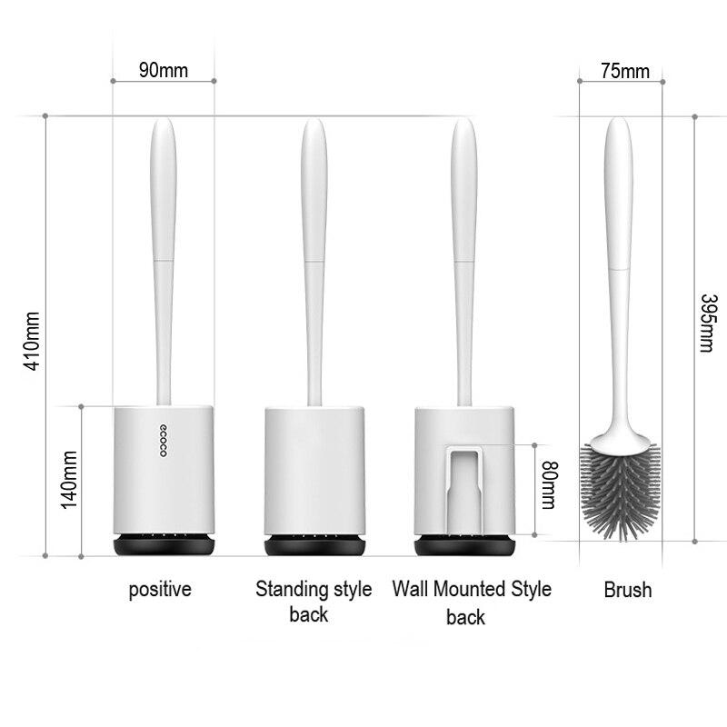 Image 5 - TRP Toilet Brush Head Holder Rubber Toilet Brush Holders Set Cleaner Bathroom Cleaning Tool Holder Brush Bathroom WC Accessories-in Cleaning Brushes from Home & Garden