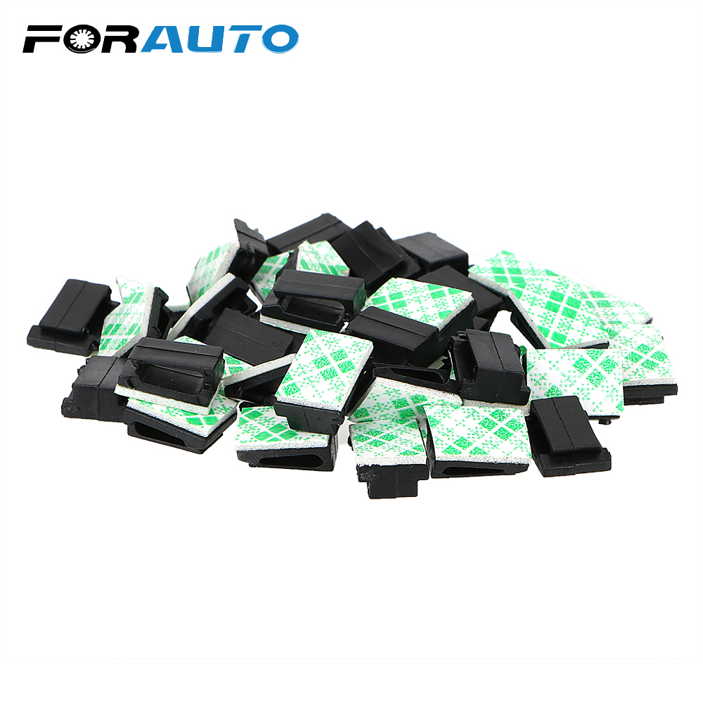 FORAUTO Interior Accessories Wires Fixing Clips Car Vehicle Data Cord Cable Tie Mount 40Pcs