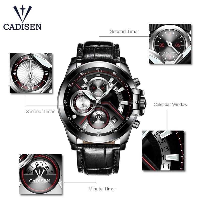 NOWY 2018 Marka CADISEN Zegarki mężczyźni Fashion Casual Zegarek - Męskie zegarki - Zdjęcie 3
