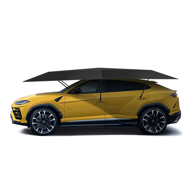 Good quality 4.8M Manual type Outdoor Car Vehicle Tent Umbrella Sunshade Roof Cover Anti-UV Kit Car Umbrella Sun Shade tent(China)