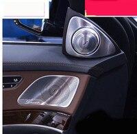 Chrome ABS Inner Door Stereo Audio Speaker Cover Trim 2pcs For Mercedes Benz S Class W222