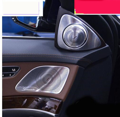Chrome ABS Inner Door Stereo Audio Speaker Cover Trim 2pcs for Mercedes Benz S class W222 14-16 Car styling 3D stickers thin client x3w with wifi hdmi unlimited users workstation rdp 7 1 1g ram 4g flash partaker