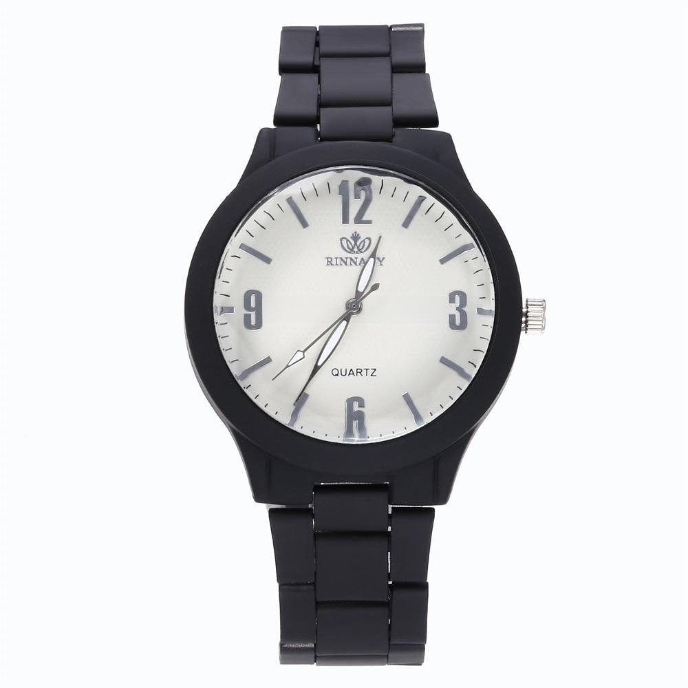 New Men And Women Fashion Bright Alloy Steel Belt Wrist Watch Couple Unisex Watch Quartz Watch