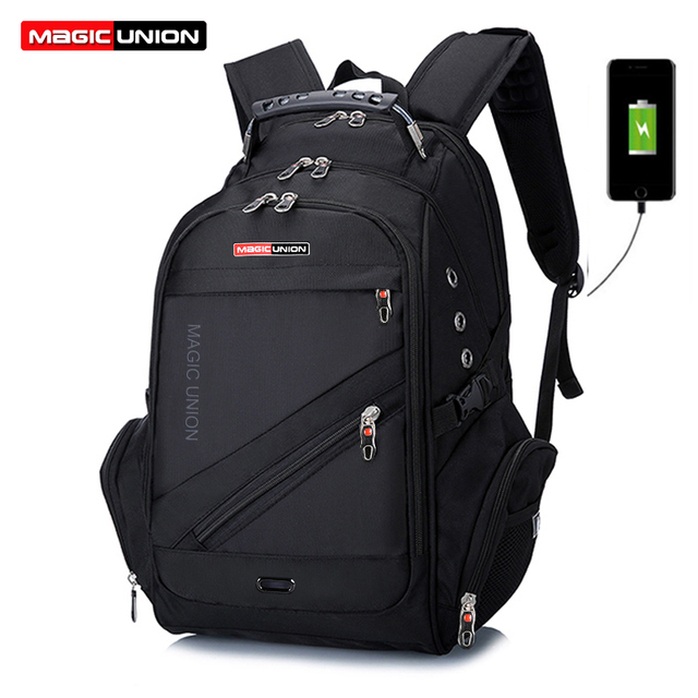 MAGIC UNION Fashion Bags boy Backpacks Brand Design Teenagers Best Students Travel Usb Charging Waterproof Schoolbag