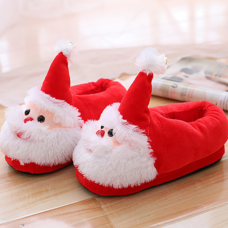 New Ladies Slippers Winter Indoor Santa Claus Heat Cotton Footwear Unisex for Christmas Cute Beautiful Male Flat Slippers Anti-skid Slippers, Low cost Slippers, New Ladies Slippers Winter Indoor Santa...
