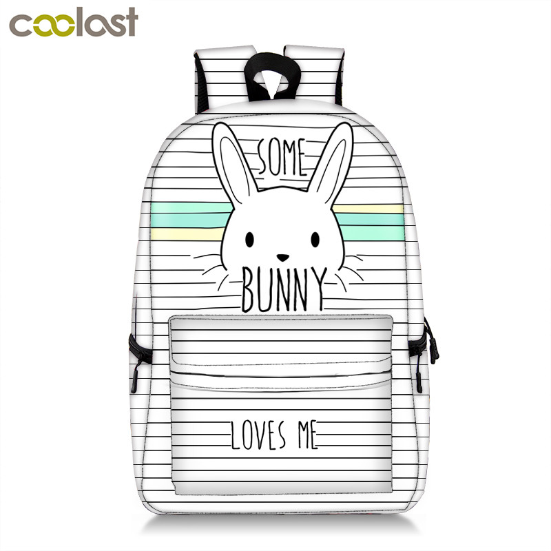 все цены на Cute Bunny Backpack For Teenage Girls Kawaii Rabbit Children School Bags Women Laptop Backpack Kids Book Bags Teenager Backpacks онлайн