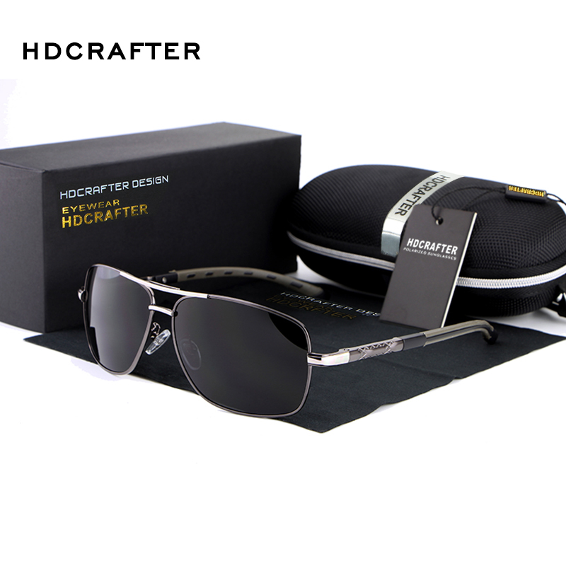 HDCRAFTER Brand Designer Sunglasses Men Polarized Driving Mirror Sun Glasses For Men High Quality Oculos De Sol Masculino