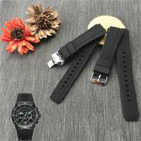 Bracelet de montre en caoutchouc pour montre Casio Edifice Bracelet de EF-552D-1A Bracelet de sport homme Bracelet en Silicone 17mm boucle papillon EF-552